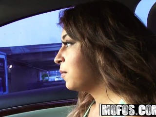 Mofos - Cute naive teen Sarai gets Stranded at the Bus Stop