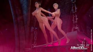 Hot 3d babes having futa sex
