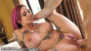 DevilsFilm Anna Bell Peaks Squirt Cums from Loving Cock!