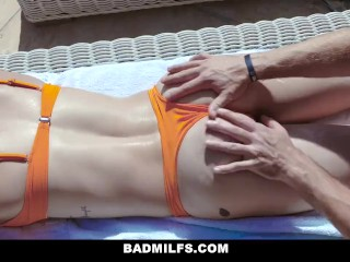 BadMILFS - April Aniston And Olivia Austin Blow A Lucky Guy