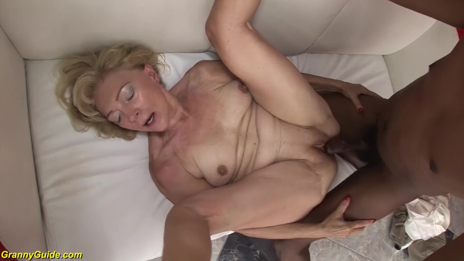Mature granny gets some cock
