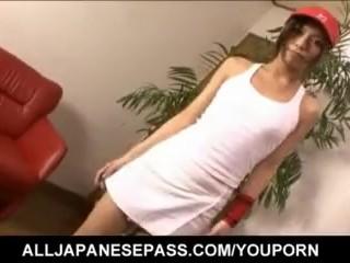 Japanese Kaoru Hayami looks smoking hot in her white tennis outfit - More at hotajp.com