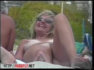 Fabulous voyeur video with beach nudist  public scenes