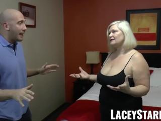 LACEYSTARR - GILF seduces big dicked hunk into hard pounding