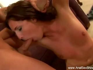Brunette Lady on A Deep Rough Sex