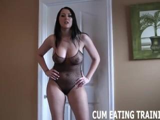 Cum Swallowing And CEI Femdom Porn