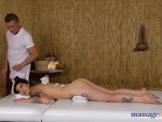 Massage Rooms Big booty tattooed Uzbek babe Akasha Coliun covered in oil