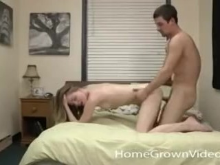Hot little blonde fucked by her boyfriend in home video