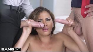 Glamkore - Petite Latina secretary gets fucked by her bosses