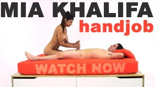 MIA KHALIFA – Arab Goddess Performs Expert Level Handjob On Peter Green