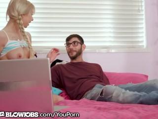 OnlyTeenBlowjobs Slutty Teen Kenzie Reeves REALLY Luvs Big Dicks