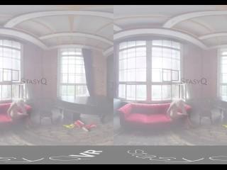 StasyQVR – 180 VR Sex movie Video – Boots 'n Blondes with MarbellaQ