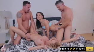 BRAZZERS – Abella Danger & Brandi Love have fun on a MOTORBUNNY