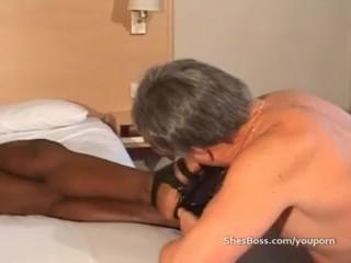 Powerful black woman controlling old man