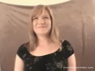Thick blonde amateur strips and sucks the photographer