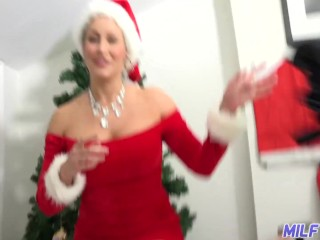 MILF Trip - Hot MILF with big tits and ass dressed in Santa outfit