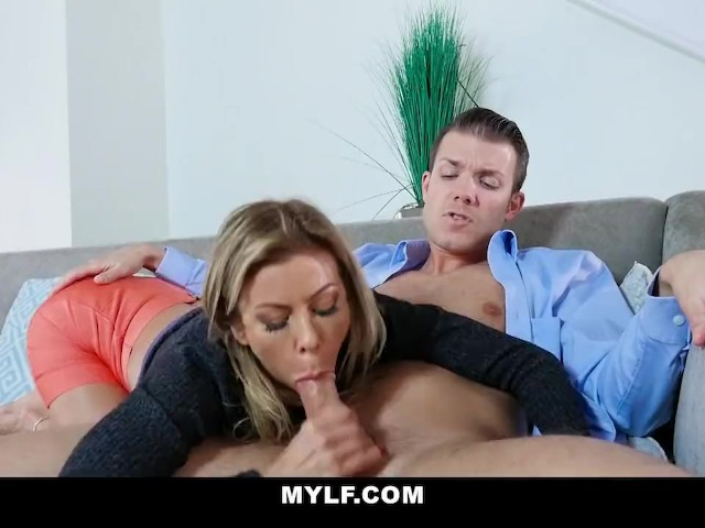 Blonde Mom Fucks Sons Friend