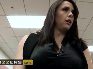 BRAZZERS - Office whores Chanel Preston & Lexi Swallow share bosses big cock