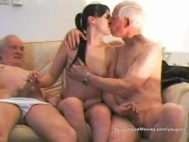 Young Girl Sucking Old Man