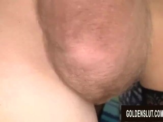 Men Old and Young Take Turns Drilling Mature Slut Vanessa Videl