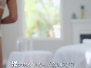 PASSION-HD Nuru dripping massage FUCK with tiny asian pussy
