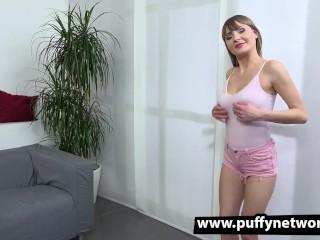 HD pissing and big black dildo play