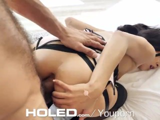 HOLED Stylish ANAL with leaking pussy filling