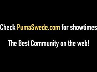 Busty Blonde Bombshell, Puma Swede Gets Cum Facial!