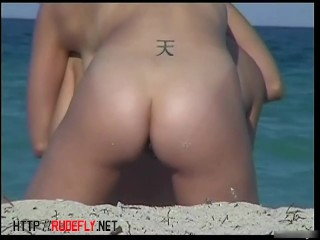 Perfect busty tits nude beach voyeur  two for one