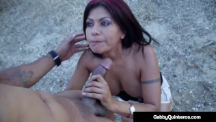 MexiMilf Gabby Quinteros Banged By Big Black Cock Outdoors!