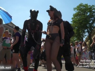 Hottie Jeny Smith at Christopher Street Day parade at Cologne. With Public Naked scenes.