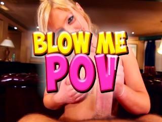 Blow Me POV - Acrobatic Girl Blowjob Stretch