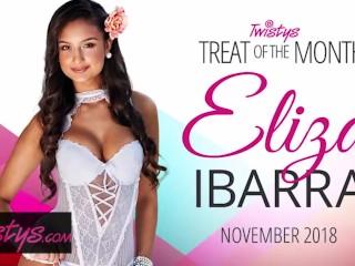 Twistys - Cute teen Eliza Ibarra has some fun with herself on her 18th bday