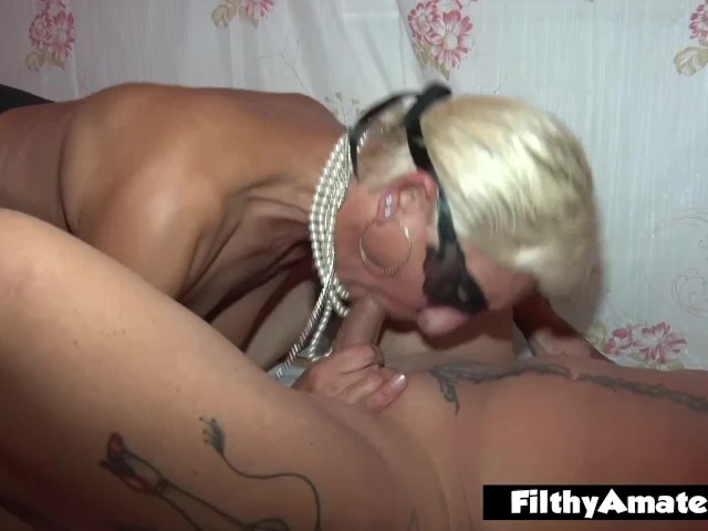 Homemade two mature amateur lesbians orgasm