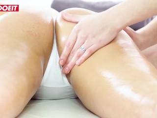 LETSDOEIT - Orgasmic Oily MASSAGE Turns To Hot Lesbian Sex