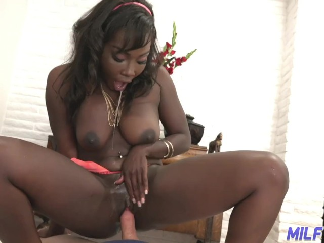 Ebony Teen Fucks White Cock