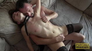 PASCALSSUBSLUTS – Lady Bug gagging on cock before rough anal