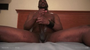 JD Daniels relaxing with lube and his BBC