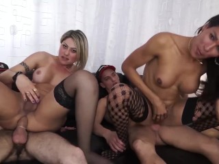 LETSDOEIT - Sexy Brazilian TGirl in Passionate Sex with Horny Stud