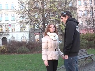 OMG my wife is fucking a stranger we met on the street takes anal sex
