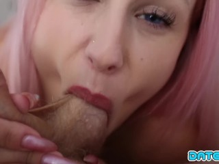 Date Slam - Pink-haired hottie with big tits and ass - Part 1