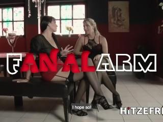 HITZEFREI Two sexy German babes anal fucking with toys