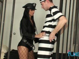 Hardcore prison sex with hot babe