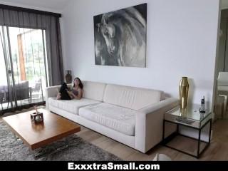 Exxxtrasmall - Petite Teen Jasmine Grey Banged By Delivery Guy