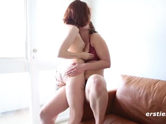 Girl licks her boobs