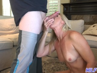MILF Trip - Sexy blonde MILF slut takes fat cock and facial