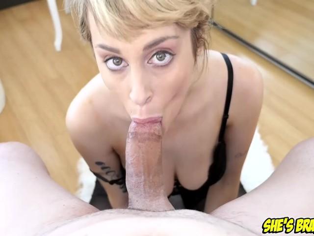 Sexy Blonde Blowjob Pov