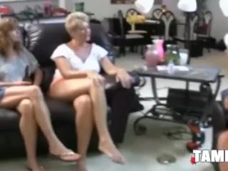 Four Horny Amateurs Have Lesbian Sex