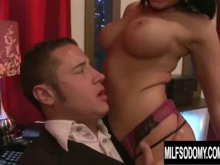 Busty MILF Tori Lane Takes His Cock on a Wild and Sweaty Anal Ride