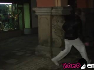 European gay thug smashes young boyfriends asshole